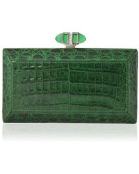 Judith Leiber - East/west Coffered Rectangle Clutch - Lyst
