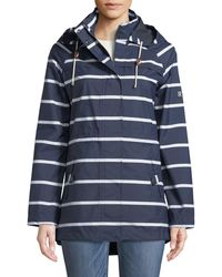 Barbour - Hollwell Striped Jacket W/ Hood - Lyst