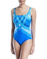 Gottex - Mystic Gem Squareneck One-piece Swimsuit - Lyst