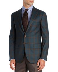 Isaia - Plaid Super 140s Wool Sport Coat - Lyst