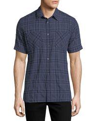 Billy Reid - Clarence Plaid Cotton Shirt - Lyst
