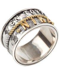 Konstantino - Men's Stavros Sterling Silver Band Ring - Lyst