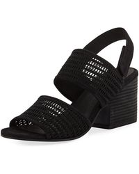 Eileen Fisher | Finn Suede Perforated Sandal | Lyst