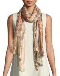 Eileen Fisher - Sprinkle-dyed Silk Scarf - Lyst