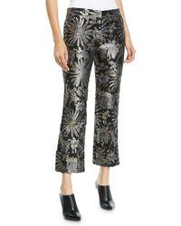 Trina Turk - Banshee Pants In Metallic Daisy Jacquard - Lyst