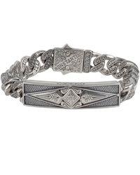 Konstantino | Men's Sterling Silver Id Bracelet | Lyst