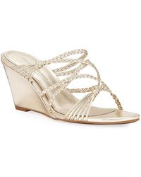 Sigerson Morrison - Maddie Leather Wedge Sandal - Lyst