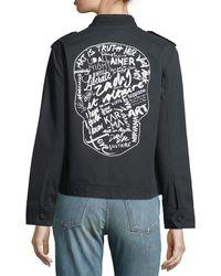 Zadig & Voltaire - Kavy Zip-front Long-sleeve Woven Jacket - Lyst