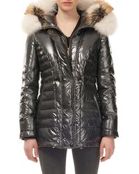 Gorski - Fur-hood Zip-front Quilted Puffer Ski Jacket W/ Ribbed Cuffs - Lyst