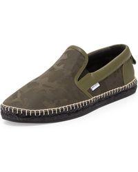 Jimmy Choo | Vlad Men's Camo-print Espadrille Slip-on Sneaker | Lyst