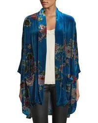 Johnny Was - Petite Vivian Printed Velvet Kimono Jacket - Lyst