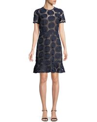 MICHAEL Michael Kors - Floral Embroidered Dress - Lyst