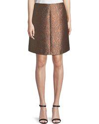 Emporio Armani - A-line Jacquard Skirt - Lyst