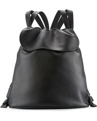 The Row | Knapsack Tumbled Leather Flap-top Bag | Lyst