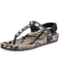 408679a4458b Pedro Garcia - Athena Studded Thong Sandals - Lyst