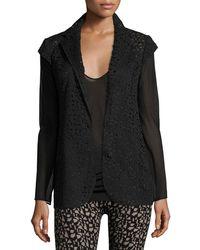 Akris | Laser-cut Knit-back Jacket | Lyst