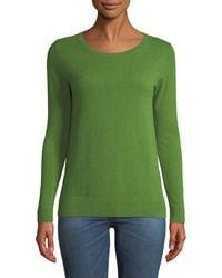 Neiman Marcus - Cashmere Modern Crewneck Sweater - Lyst
