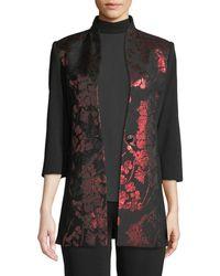 Misook - Metallic Floral-inset Jacket - Lyst