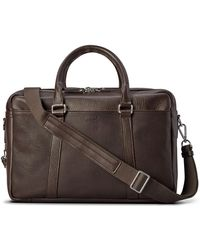 Shinola - Men's Luxe Leather Double-zip Laptop Briefcase - Lyst