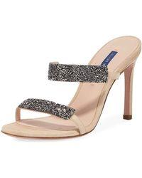 39738165db4 Stuart Weitzman - Women s Razzle Embellished High-heel Sandals - Lyst