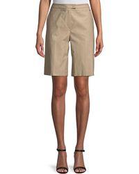 ESCADA - Stretch-cotton Bermuda Shorts - Lyst