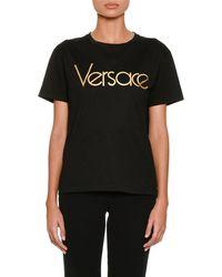 Versace - Short-sleeve Crewneck Logo T-shirt - Lyst