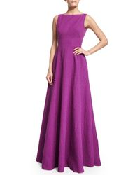 Lela Rose - Sl Gown In Matelasse - Lyst