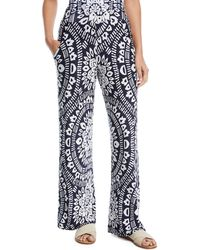 Trina Turk - Indochine Printed Wide-leg Pants - Lyst