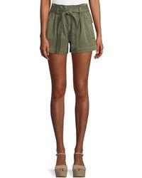 Ella Moss - High-waist Belted Paperbag Shorts - Lyst