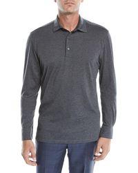 b0feaa2a Lyst - Ermenegildo Zegna Men's Vicuna Logo Short-sleeve Polo Shirt ...