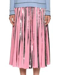 Marni - Plisse Foil Ankle-length Skirt - Lyst
