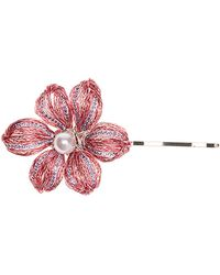 Colette Malouf - Chloe Diamond Bobby Pin W/ Glass Pearl Bead - Lyst
