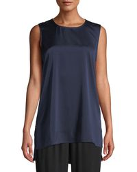 Eileen Fisher - Silk Charmeuse High-low Tank - Lyst