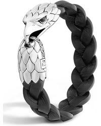 John Hardy | Men's Silver Eagle Head Leather Bracelet | Lyst