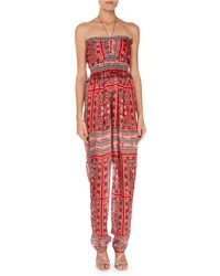 Isabel Marant - Errol Summer Night Print Smocked Jumpsuit - Lyst