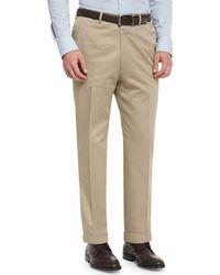 Brioni - Phi Flat-front Cotton-cashmere Trousers - Lyst