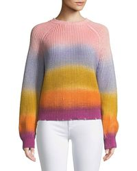 Zadig & Voltaire - Kary Long-sleeve Rainbow Gradient Sweater - Lyst