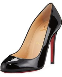 cd932824d9d5 Christian Louboutin Dollyla Patent 100mm Red Sole Pump in Natural - Lyst