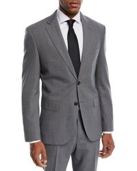 BOSS - Jets Lenon Solid Wool Two-piece Travel Suit - Lyst
