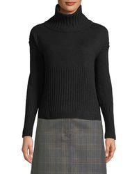 10 Crosby Derek Lam - Long-sleeve Cashmere Turtleneck Sweater W/ Rib Detail - Lyst