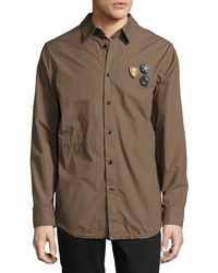 Daniel Won - Cotton Fishtail-hem Shirt Jacket With Patches - Lyst
