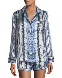Neiman Marcus - Tie-dye Silk Short Pajama Set - Lyst