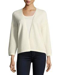 Neiman Marcus - Silk/cashmere Ottoman Knit Cardigan - Lyst