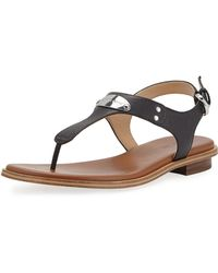 MICHAEL Michael Kors - Plate Thong Sandals - Lyst