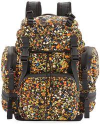 DSquared² - Men's Akira Floral-print Backpack - Lyst