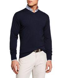 Peter Millar - Men's Excursionist Flex V-neck Sweater - Lyst