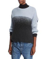 Brunello Cucinelli | Crewneck Rib-knit Pullover Cashmere Sweater | Lyst