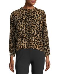 Velvet | Moselle Leopard-print Sweatshirt | Lyst