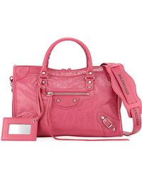 Balenciaga - Classic City Small Leather Tote Bag With Logo Strap - Lyst