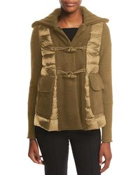 Moncler - Maglia Toggle-front Jacket W/ Puffer Combo - Lyst